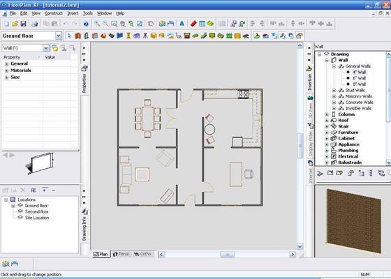 Скриншот программы floorplan 3d