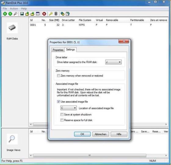Скриншот программы softperfect ram disk