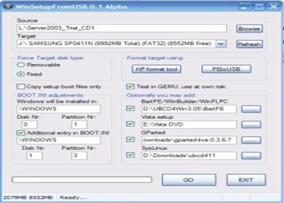 Скриншот программы winsetupfromusb