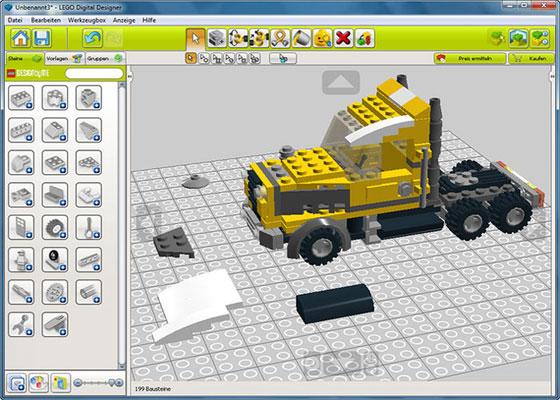Скриншот программы lego digital designer