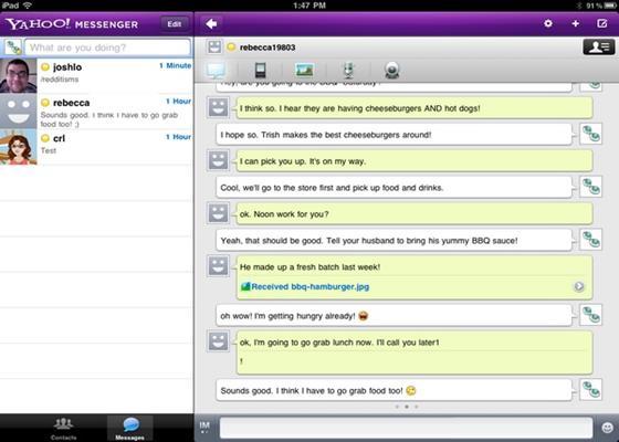 Скриншот программы yahoo messenger