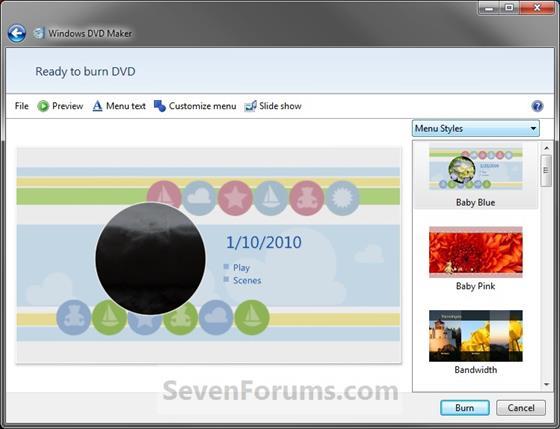 Скриншот программы dvd maker