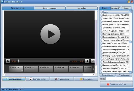 Скриншот программы onlinevideotaker