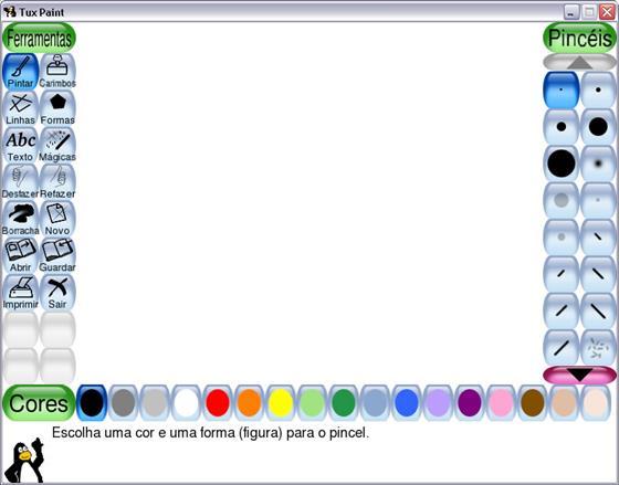 Скриншот программы tux paint