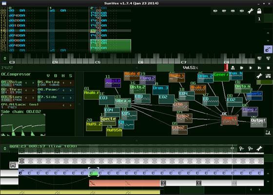 Скриншот программы sunvox