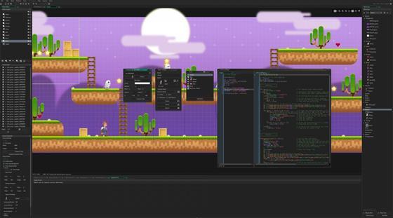 Скриншот программы game maker