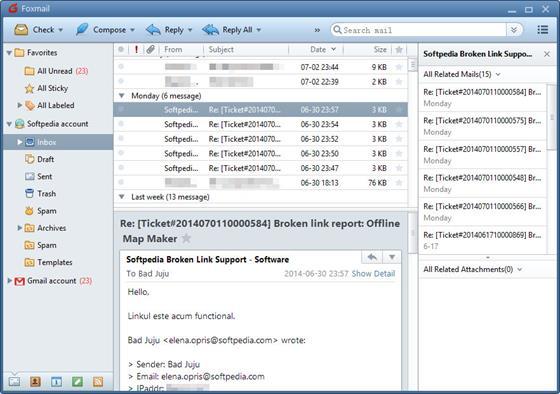 Скриншот программы foxmail