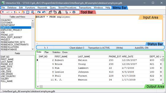 Скриншот программы interbase