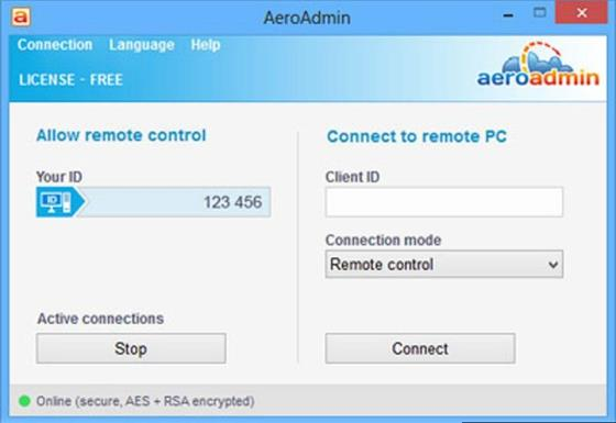 Скриншот программы aeroadmin