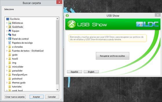 Скриншот программы usb show