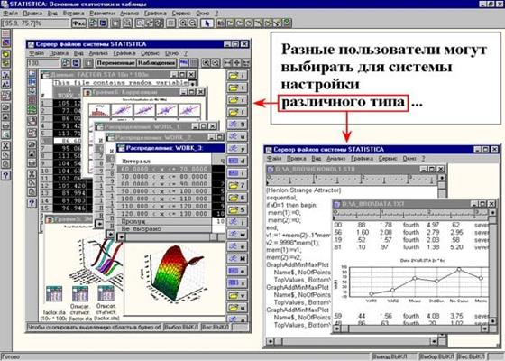 Скриншот программы statistica