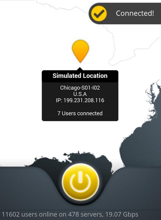 Скриншот программы cyberghost vpn