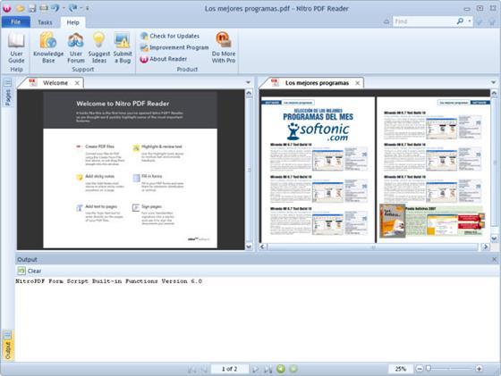 Скриншот программы nitro pdf reader