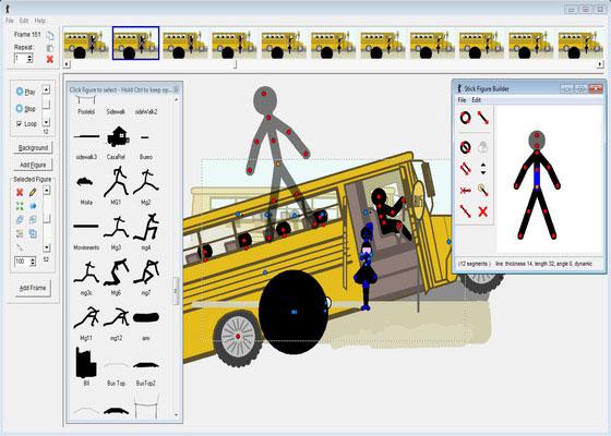 Скриншот программы pivot animator 4.1.10