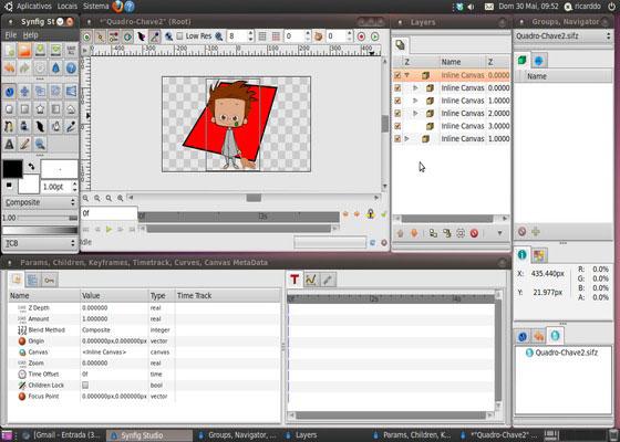 Скриншот программы synfig studio