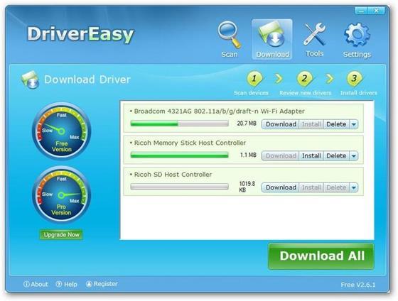 Скриншот программы driver easy
