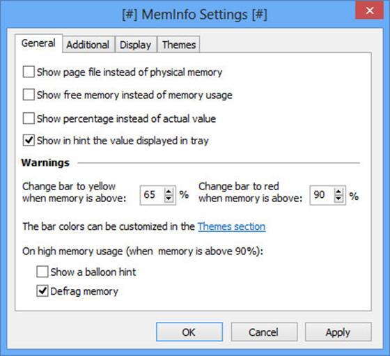 Скриншот программы meminfo