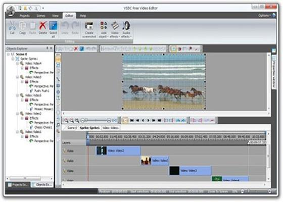 Скриншот программы vsdc free video editor для windows 10
