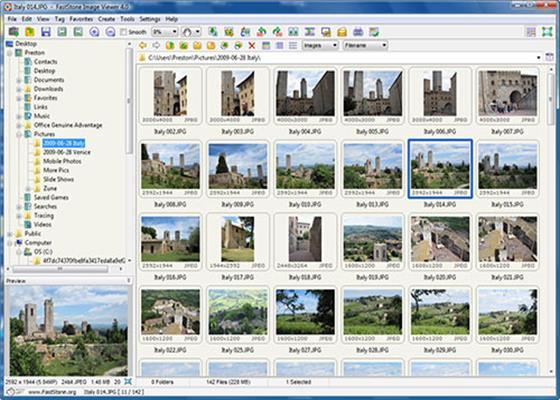 Скриншот программы faststone image viewer
