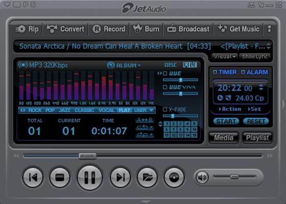 Скриншот программы jetaudio