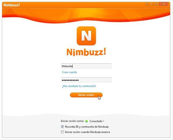 Скриншот программы nimbuzz