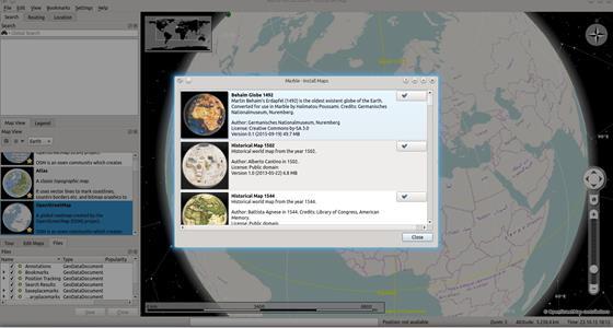 Скриншот программы marble