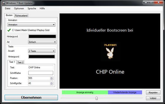 Скриншот программы windows 7 boot updater