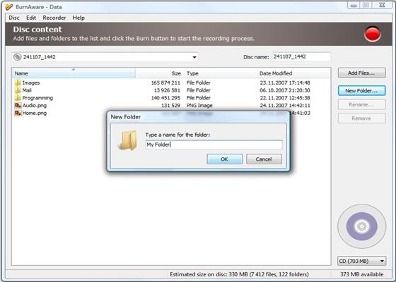 Скриншот программы burnaware