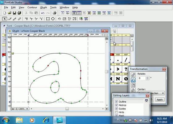 Скриншот программы fontlab studio