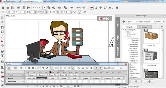 Скриншот программы crazytalk animator