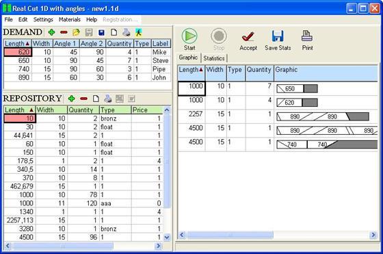 Скриншот программы cutting