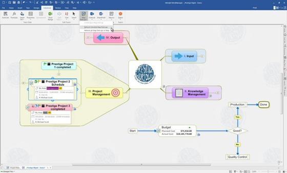 Скриншот программы mindmanager