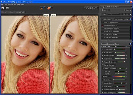 Скриншот программы portrait professional studio