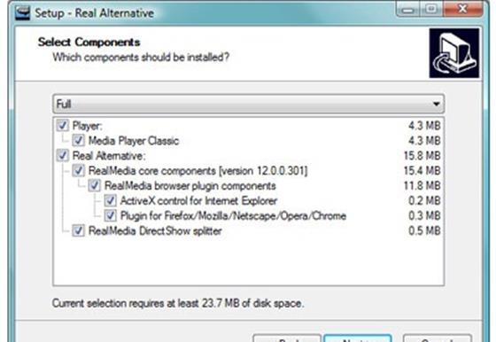 Скриншот программы real alternative