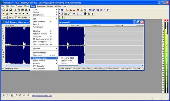 Скриншот программы wavosaur
