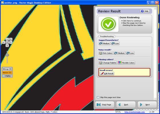 Скриншот программы vector magic desktop edition