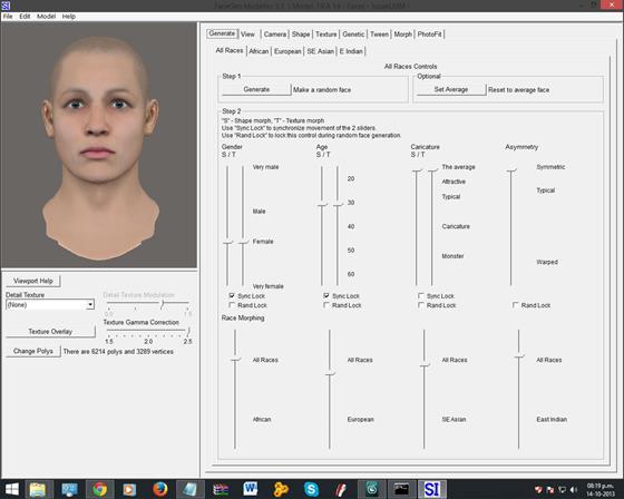 Скриншот программы facegen modeller