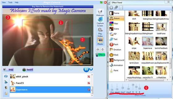 Скриншот программы magic camera