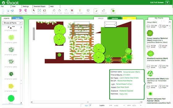 Скриншот программы garden planner