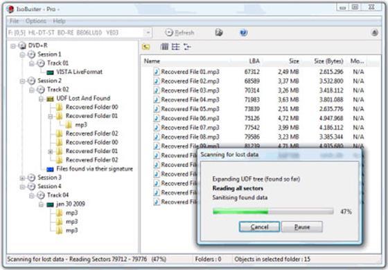 Скриншот программы isobuster pro