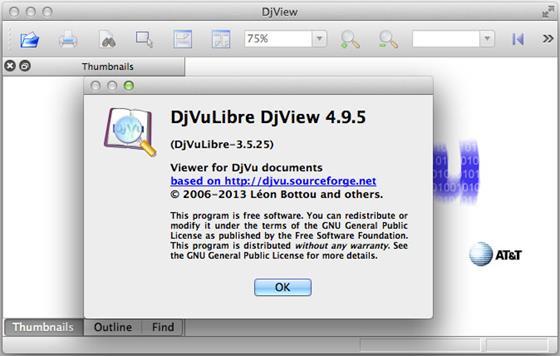 Скриншот программы djvulibre djview