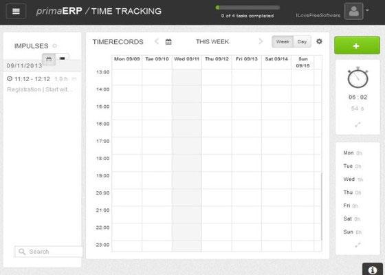 Скриншот программы time tracker