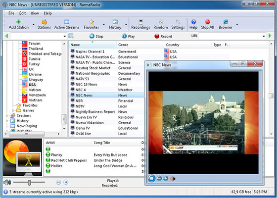 Скриншот программы rarmaradio