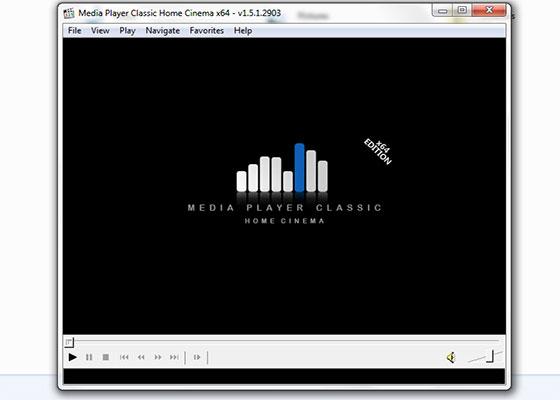 Скриншот программы windows media player classic для windows 7