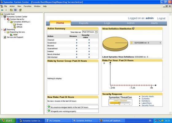 Скриншот программы symantec antivirus
