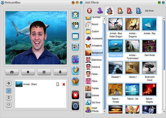 Скриншот программы webcammax