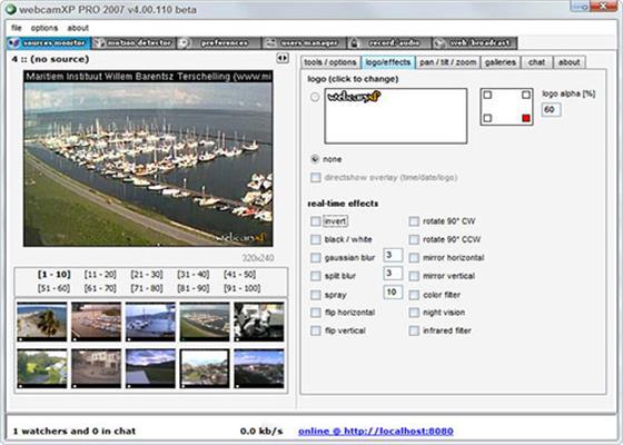 Скриншот программы webcamxp pro