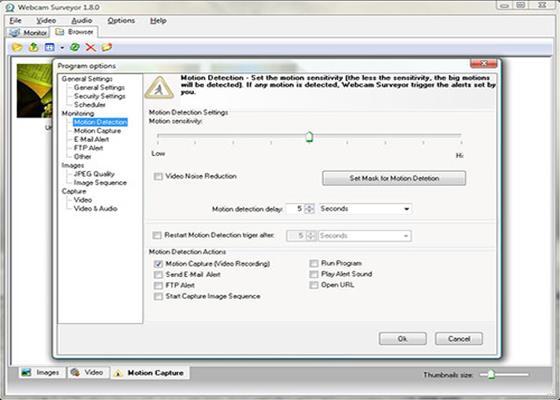 Скриншот программы webcam surveyor