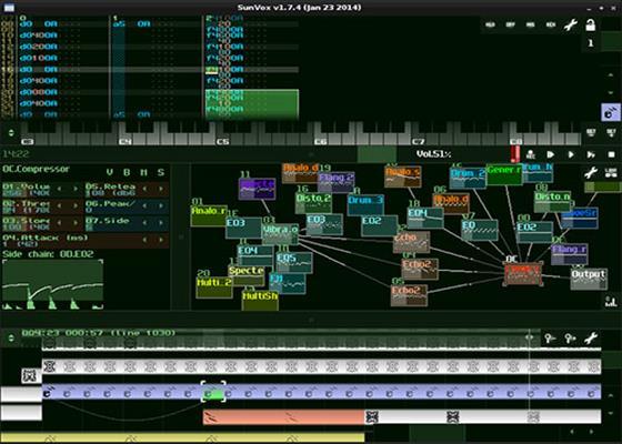 Скриншот программы sunvox для windows 10