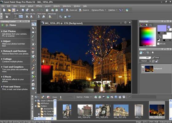 Скриншот программы paintshop pro